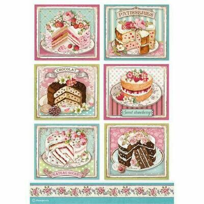Patisserie - Sweety Collection - A4 Rice Paper - Stamperia