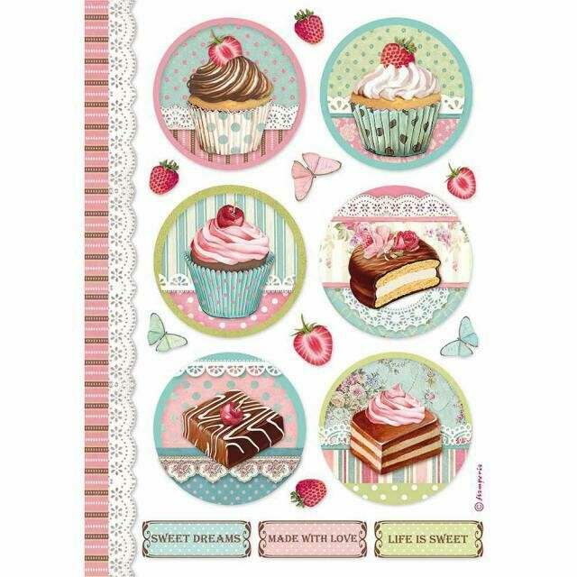 Round Mini Cake - Sweety Collection - A4 Rice Paper - Stamperia