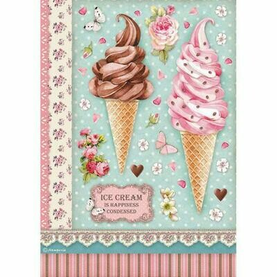 Ice Cream - Sweety Collection - A4 Rice Paper - Stamperia