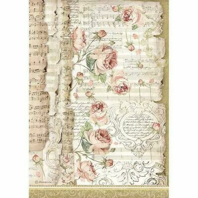 Roses and Music - Princess Collection - A4 Rice Paper - Stamperia