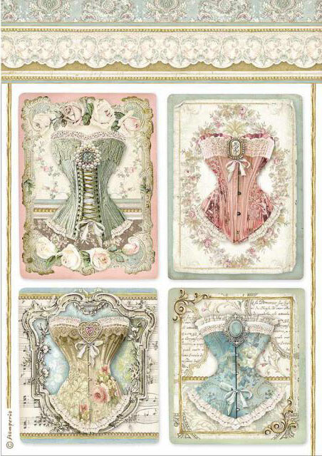 Corsets - Princess Collection - A4 Rice Paper - Stamperia