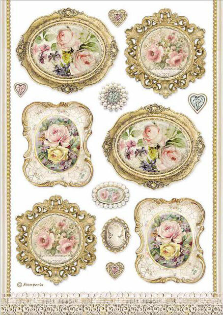 Frames - Princess Collection - A4 Rice Paper - Stamperia