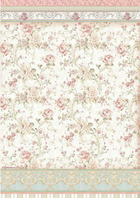 Roses - Princess Collection - A3 Rice Paper - Stamperia