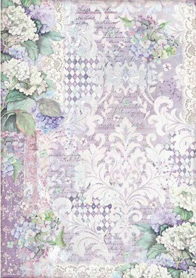 Hortensia Wallpaper - Hortensia Collection - A3 Rice Paper - Stamperia