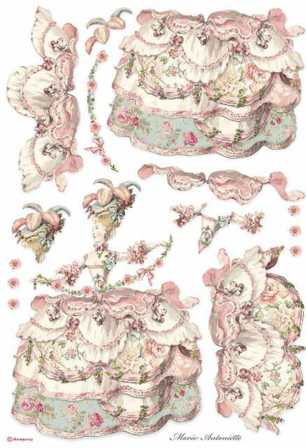 Lady Pink - A3 Rice Paper - Stamperia