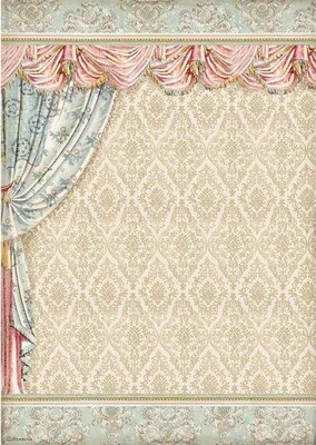 Drapery - Princess Collection - A3 Rice Paper - Stamperia
