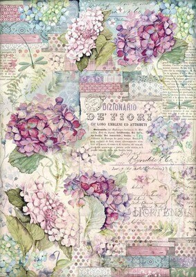 Hortensia - Hortensia Collection - A3 Rice Paper - Stamperia