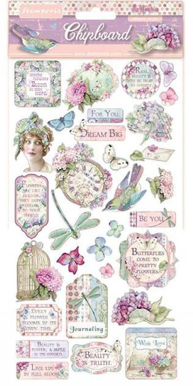 Hortensia Chipboard - Stamperia