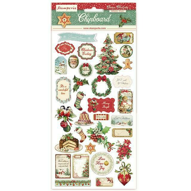 LIMITED STOCK Classic Christmas Chipboard - Stamperia