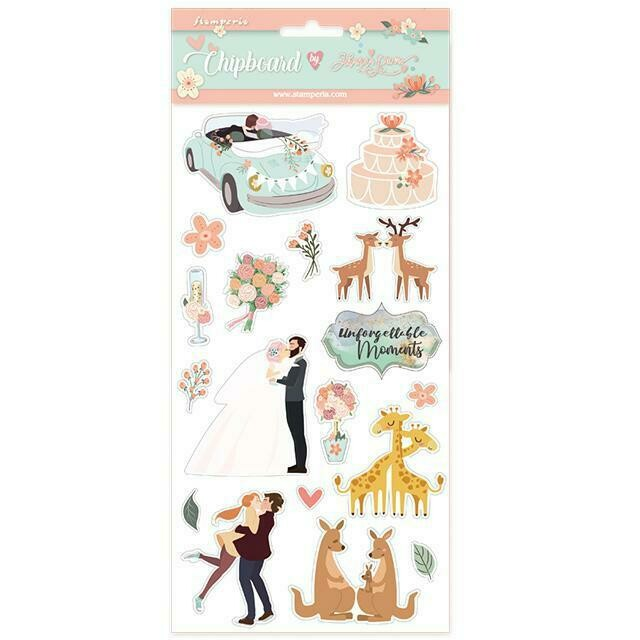 Wedding Subjects Chipboard - Stamperia