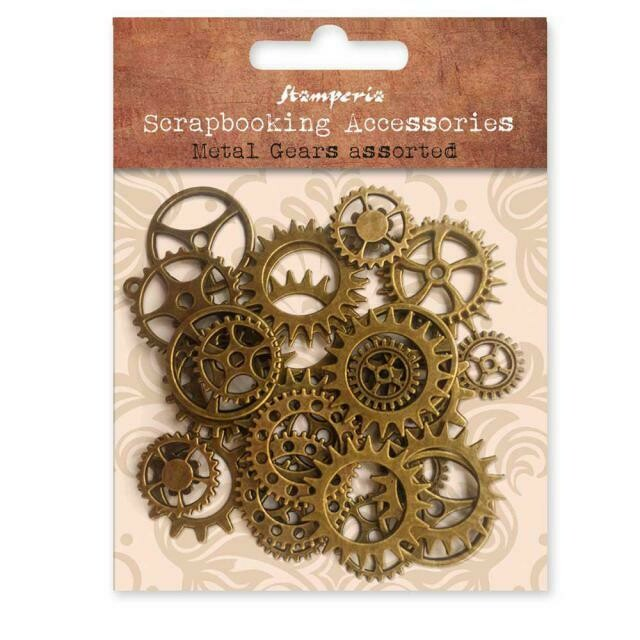 Assorted Metal Gears - Stamperia Embellishments