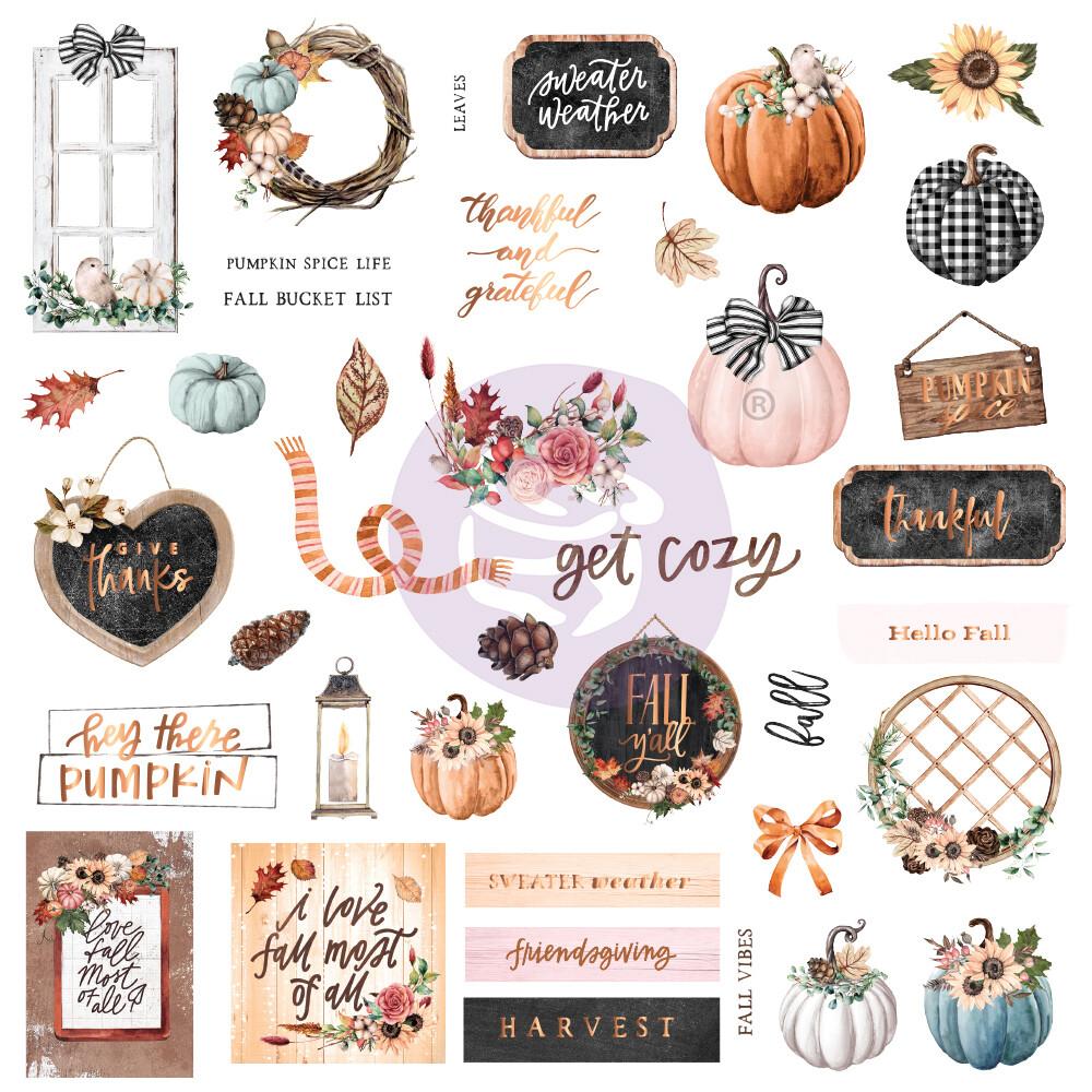 Ephemera 39pcs - Pumpkin & Spice - Prima Marketing