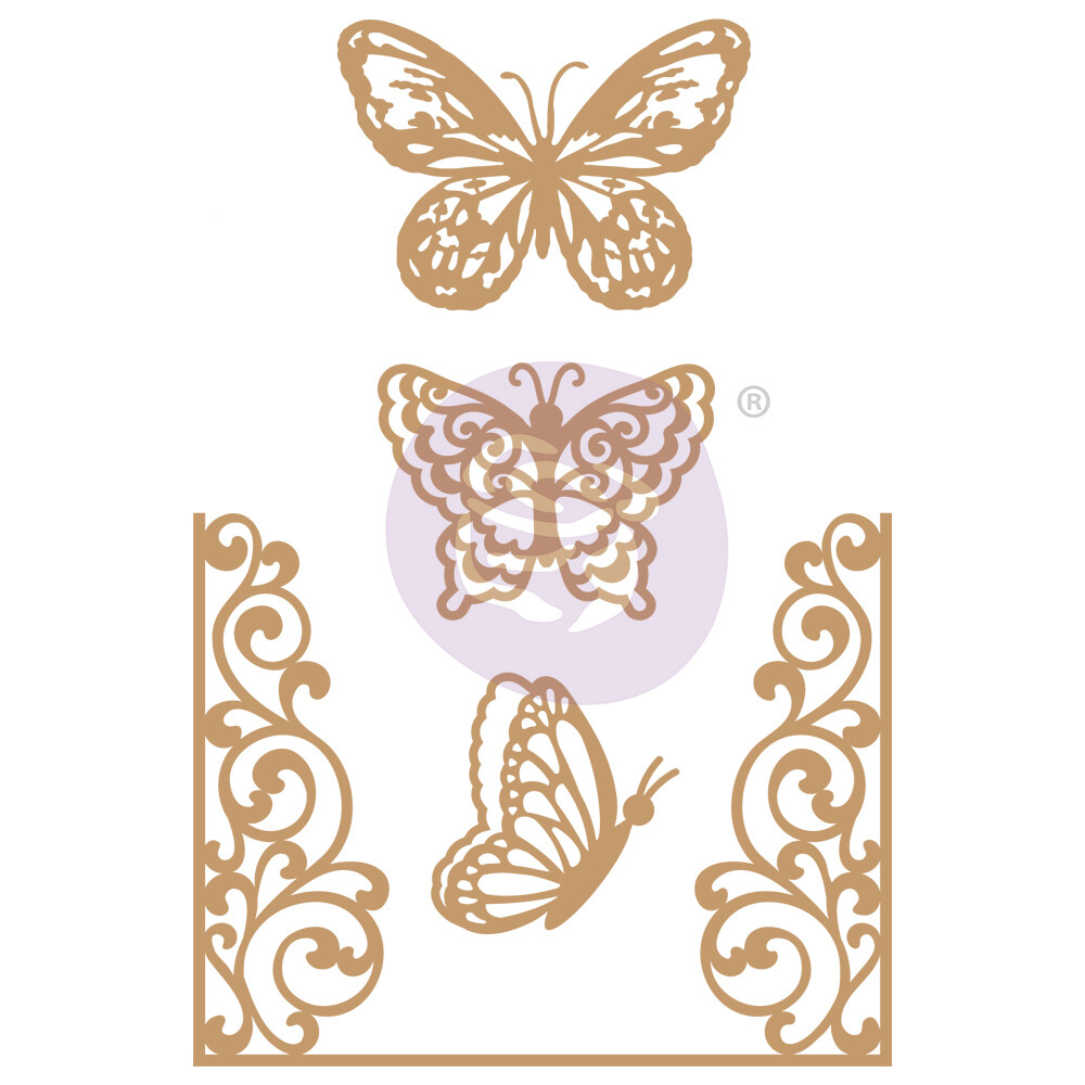 Butterfly Flight - Chipboard Die Cut - Prima Marketing