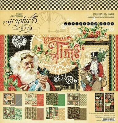 Christmas Time 12x12 Kit With Stickers - Graphic 45
