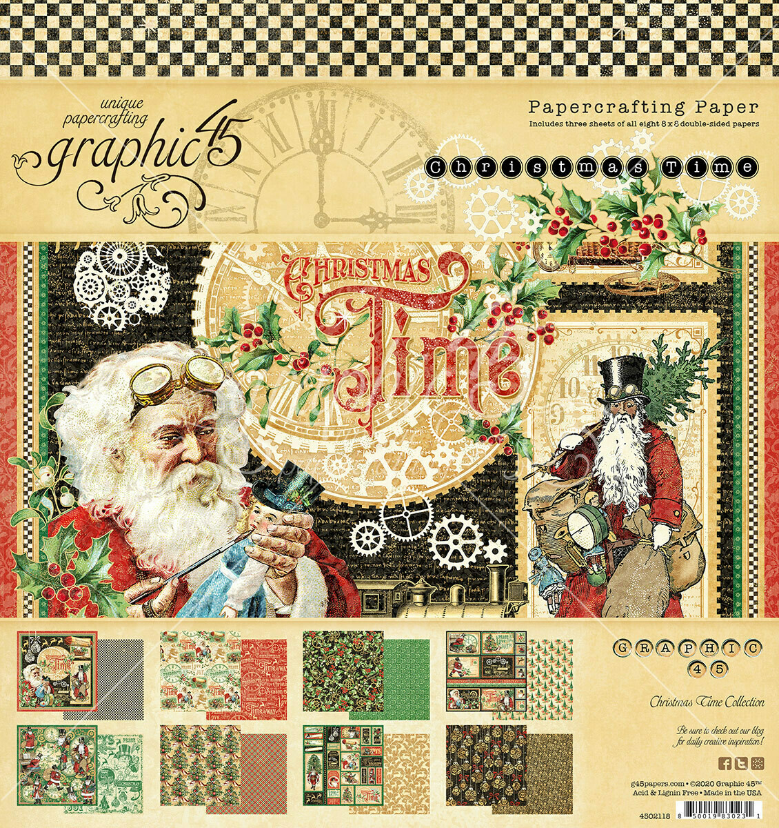 Christmas Time 8x8 Paper Pad - Graphic 45