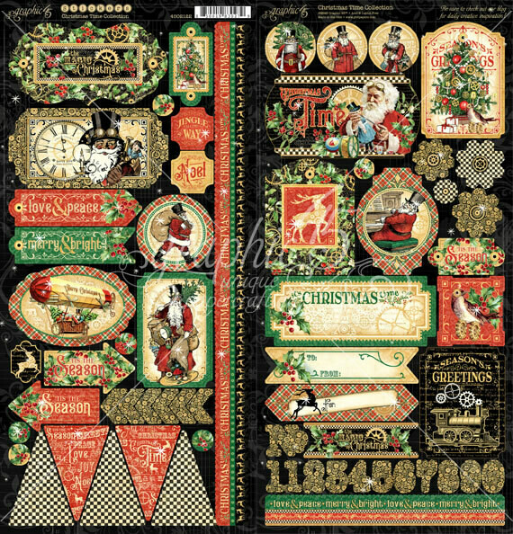 Christmas Time Stickers - Graphic 45