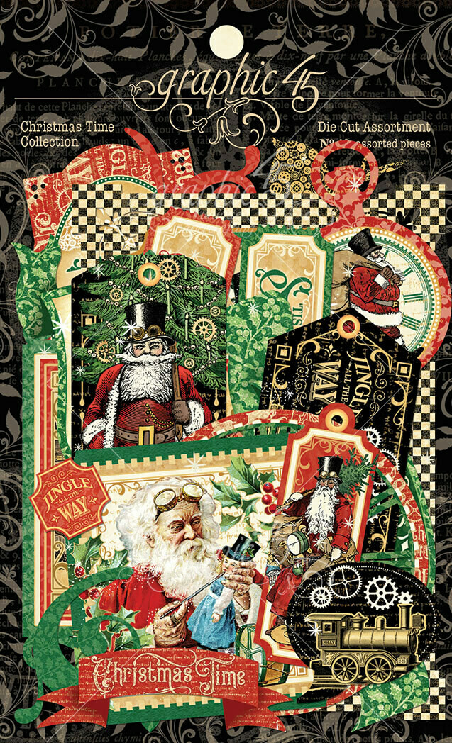 Christmas Time Assorted Die Cut Pieces - Graphic 45