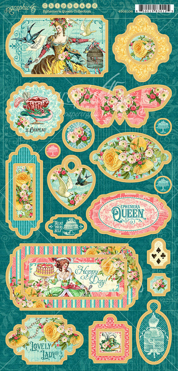 Ephemera​ Queen Chipboard - Graphic 45