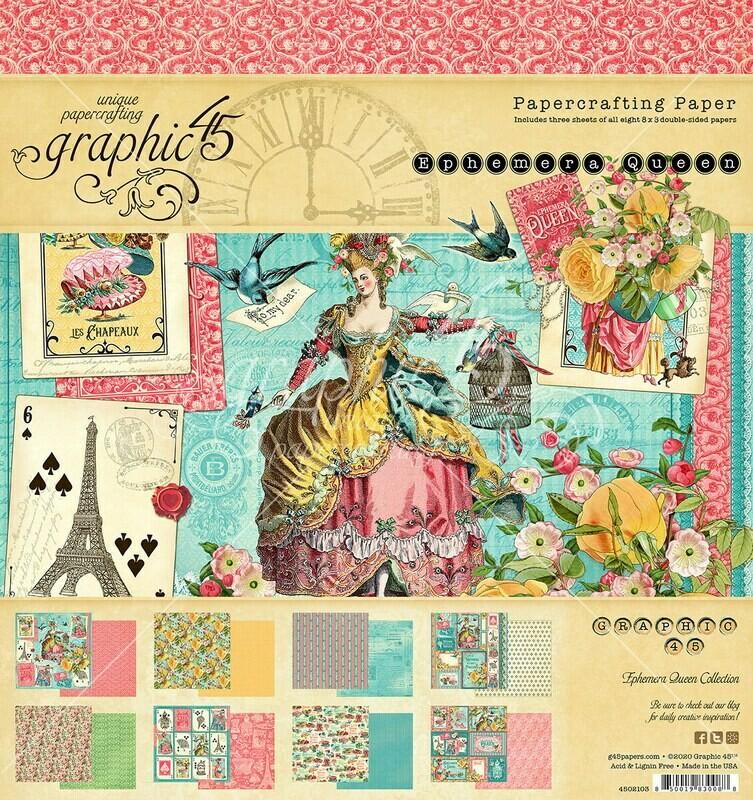 Ephemera Queen 8x8 Paper Pad - Graphic 45