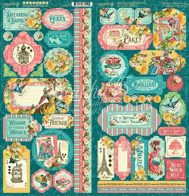 Ephemera Queen Stickers - Graphic 45