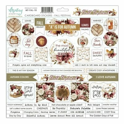 Fall Festival Chipboard Stickers - Mintay by Karola