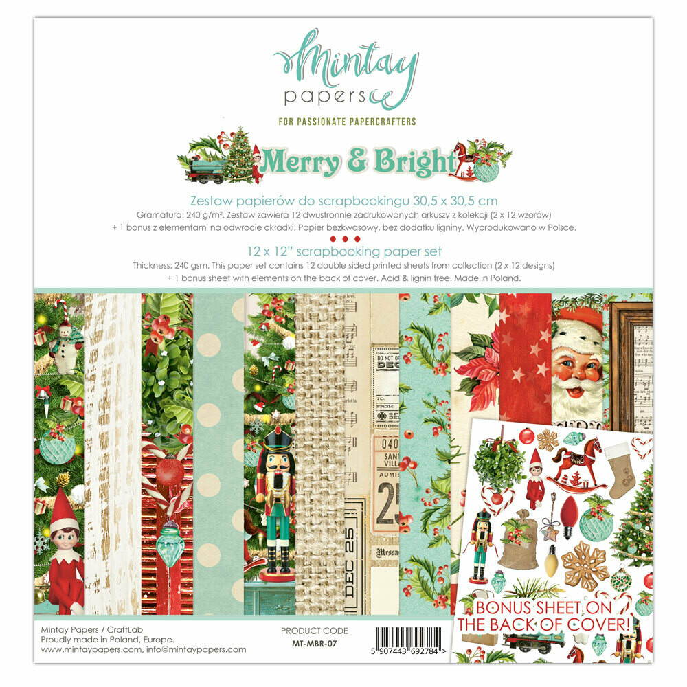 Merry & Bright 6x6 - Mintay by Karola