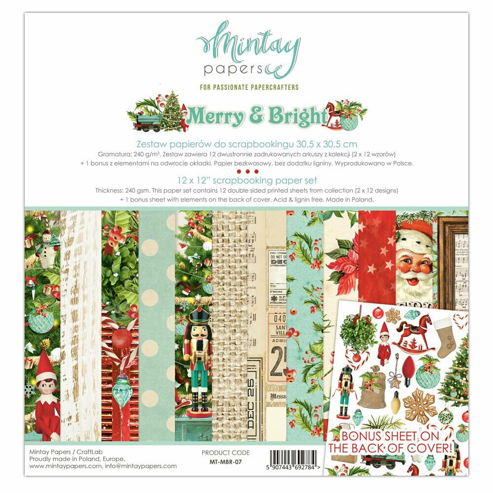 Merry & Bright 12x12 - Mintay by Karola