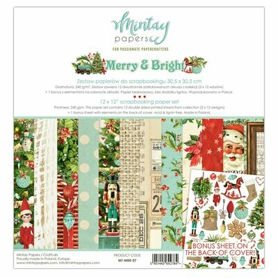 Merry & Bright 12x12 - Mintay by Karola