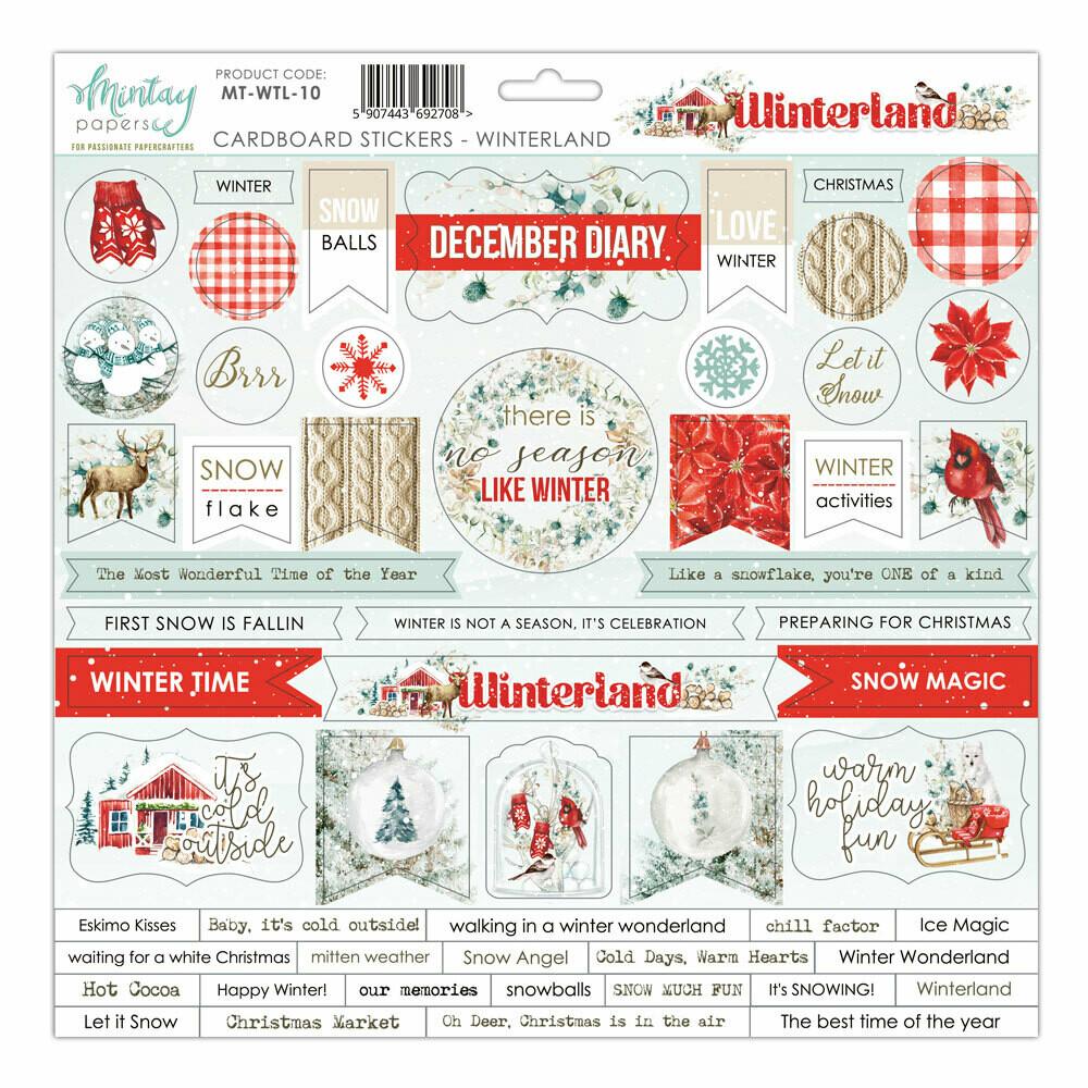 Winterland Chipboard Stickers - Mintay by Karola