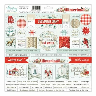 Winterland Chipboard Stickers - Mintay by Karola