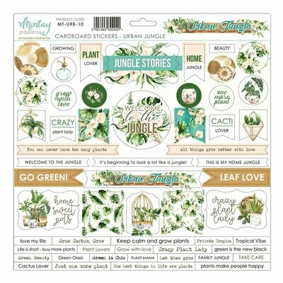 Urban Jungle Chipboard Stickers - Mintay by Karola