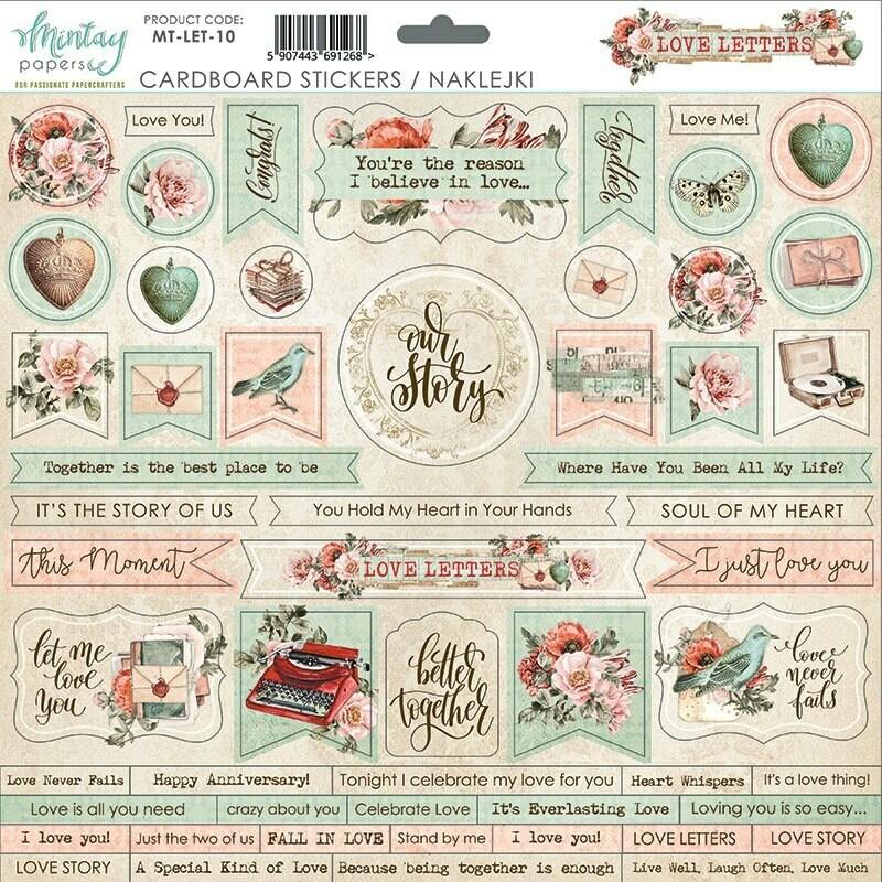 Love Letters Chipboard Stickers - Mintay by Karola