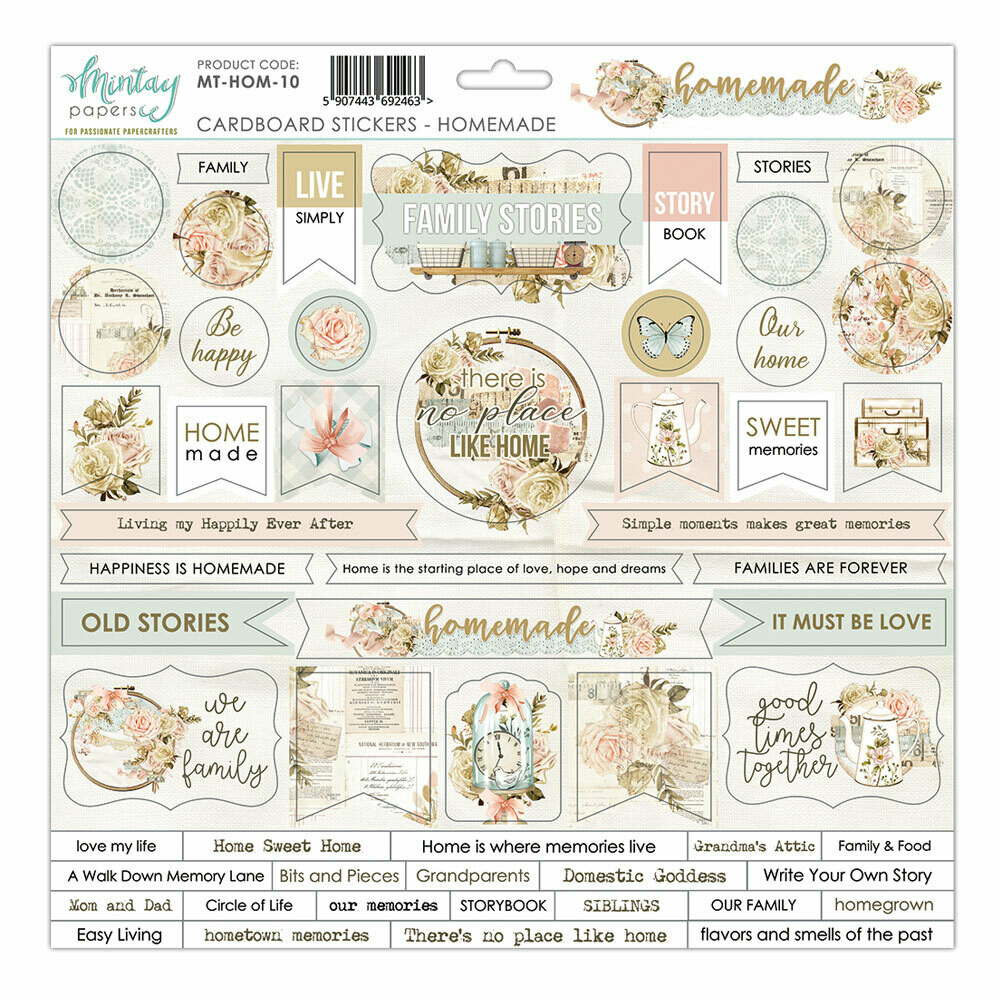 Homemade Chipboard Stickers - Mintay by Karola