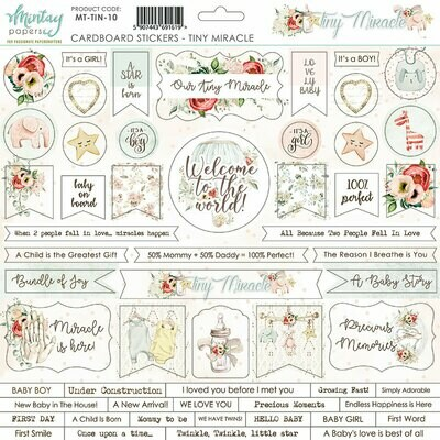 Tiny Miracle Chipboard Stickers - Mintay by Karola