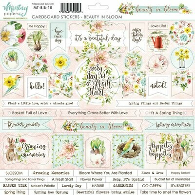 Beauty in Bloom Chipboard Stickers - Mintay by Karola