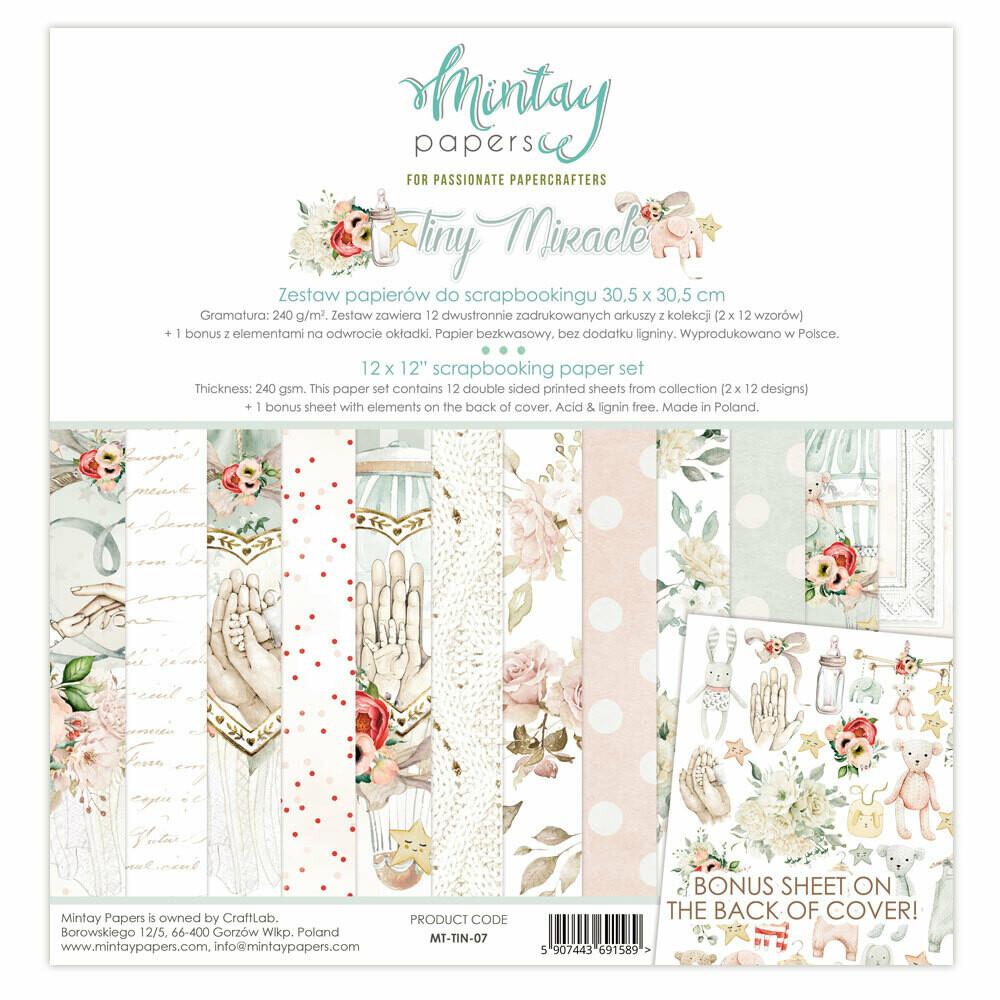 Tiny Miracle 12x12 - Mintay by Karola