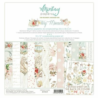 Tiny Miracle 12x12 - Mintay by Karola
