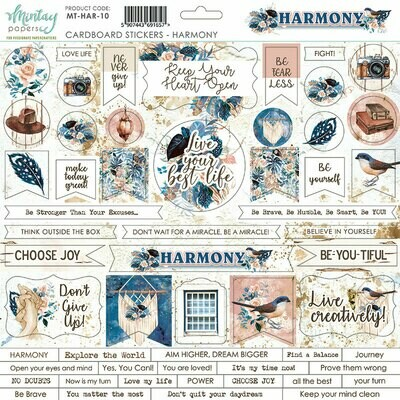 Harmony Chipboard Stickers - Mintay by Karola