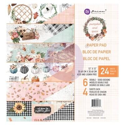 Pumpkin & Spice - 12x12 Paper Pad - Prima Marketing