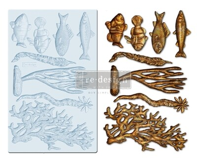Coral Reef - Decor Mould - Re-Design With Prima