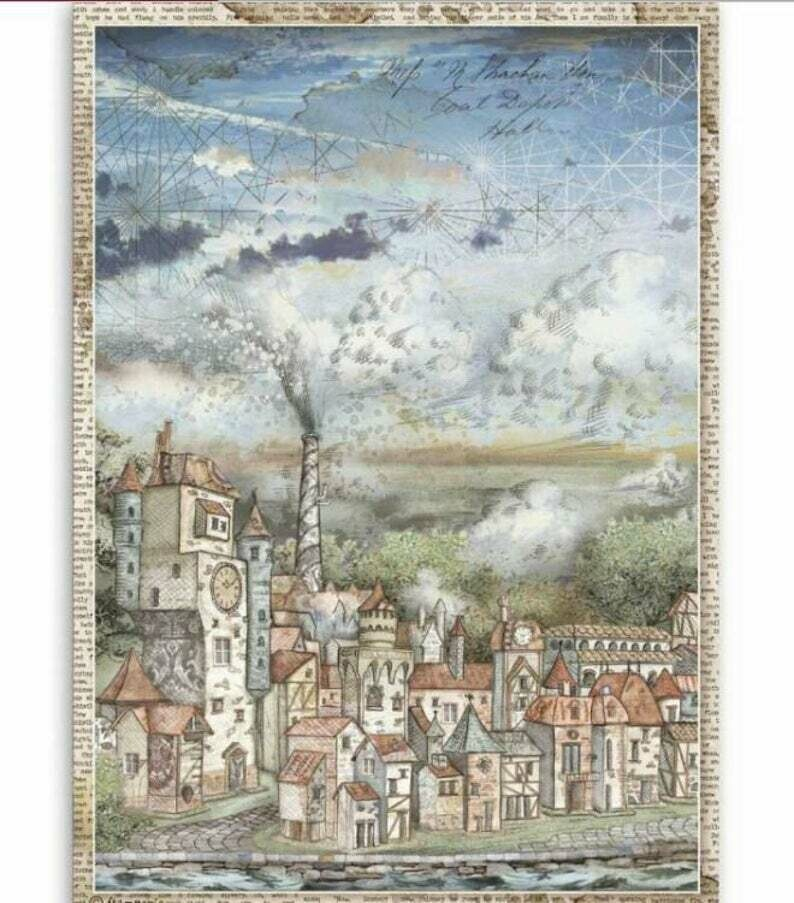 Cityscape - Sir Vagabond Collection - A4 Rice Paper - Stamperia