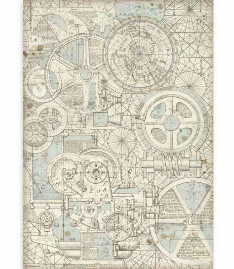 Train Mechanism - A3 Rice Paper - Sir Vagabond - Stamperia