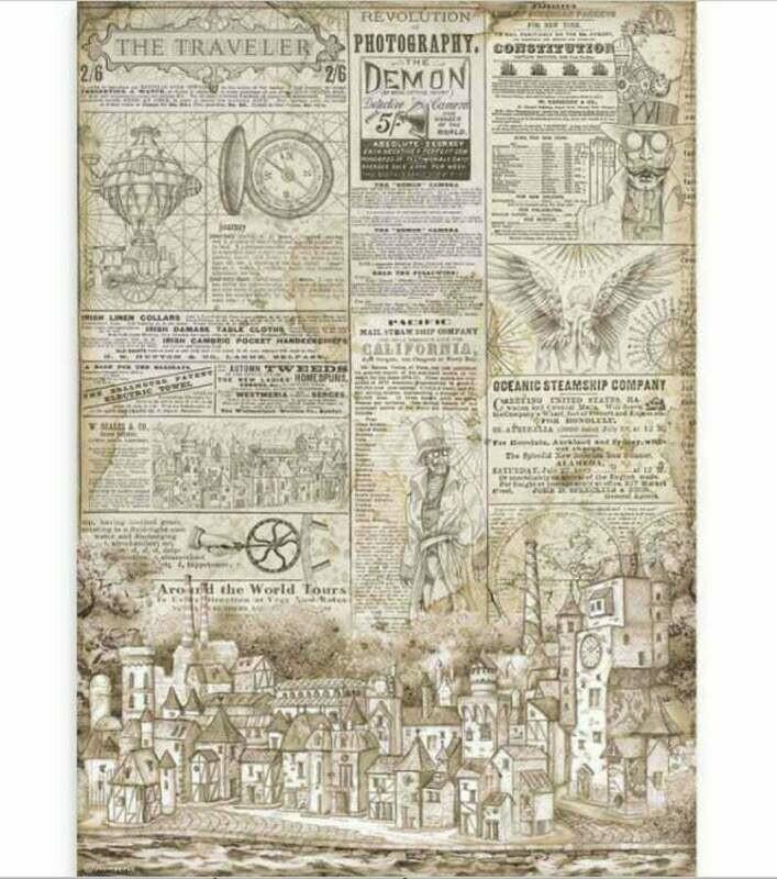 The Traveler - A3 Rice Paper - Sir Vagabond - Stamperia