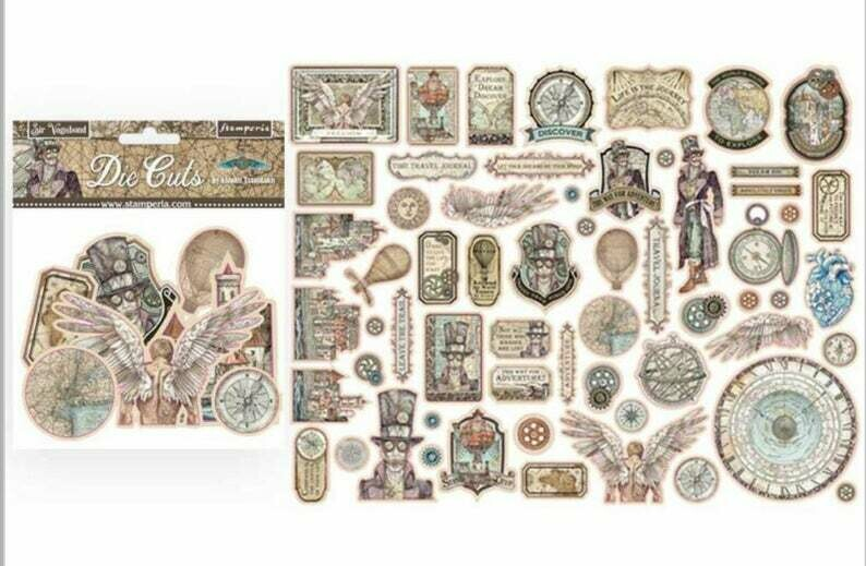 Sir Vagabond Assorted Die Cut Pieces - Stamperia