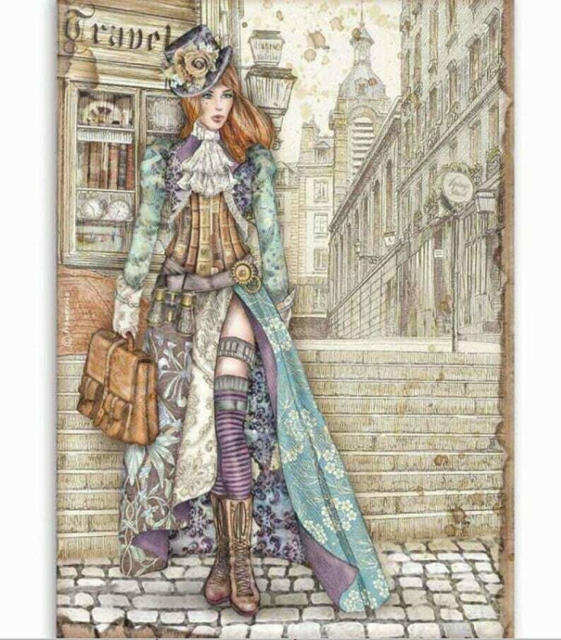 Lady Vagabond - Lady Vagabond Collection - A4 Rice Paper - Stamperia