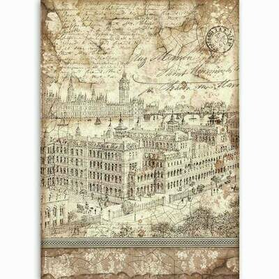 London - Lady Vagabond Collection - A4 Rice Paper - Stamperia