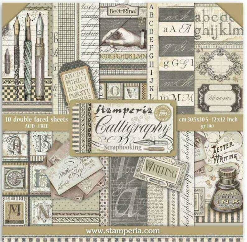 Calligraphy 12x12 Paper Pad - Stamperia
