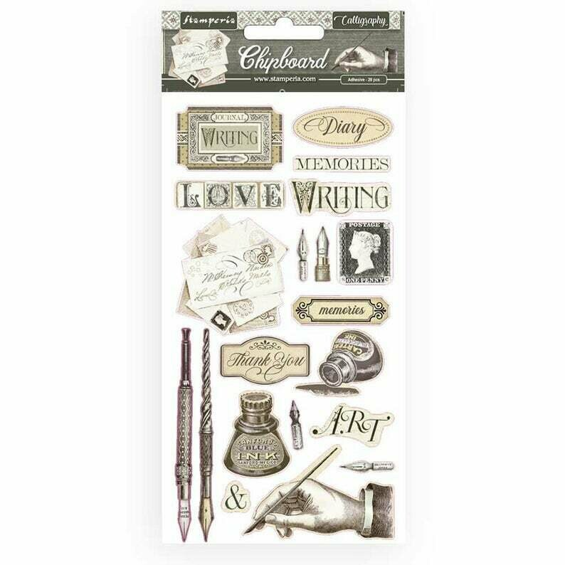 Calligraphy Chipboard - Stamperia
