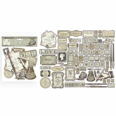 Calligraphy Assorted Die Cut Pieces - Stamperia