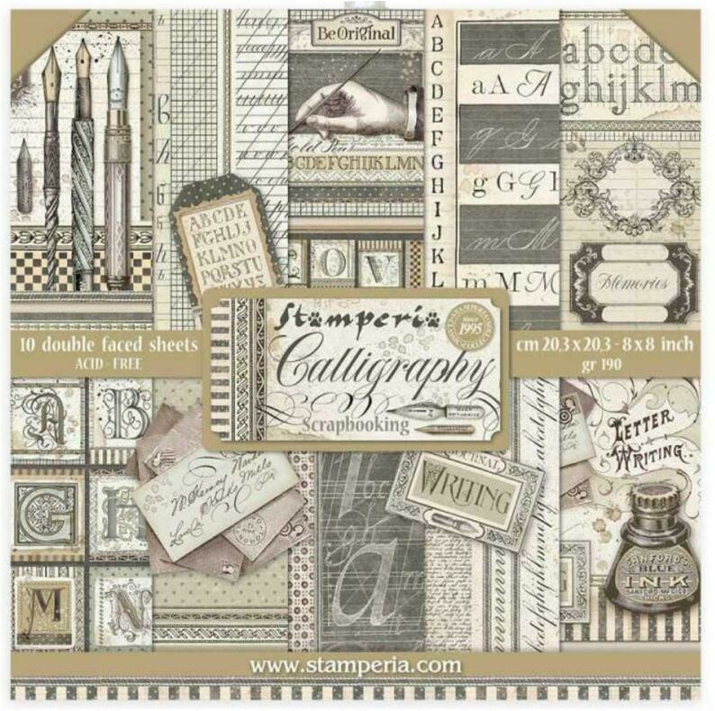 Calligraphy 8x8 Paper Pad - Stamperia